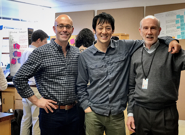 (l-r) Matthew Trowbridge, MD, MPH; David Chen, MBA; and Erik Hewlett, MD