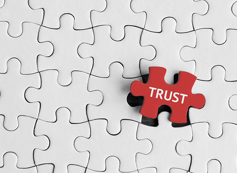 Trust, Puzzle concept.