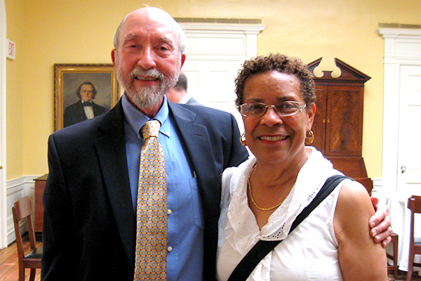 Dr. Bolton and Anita Jacobson, his administrative assistant
