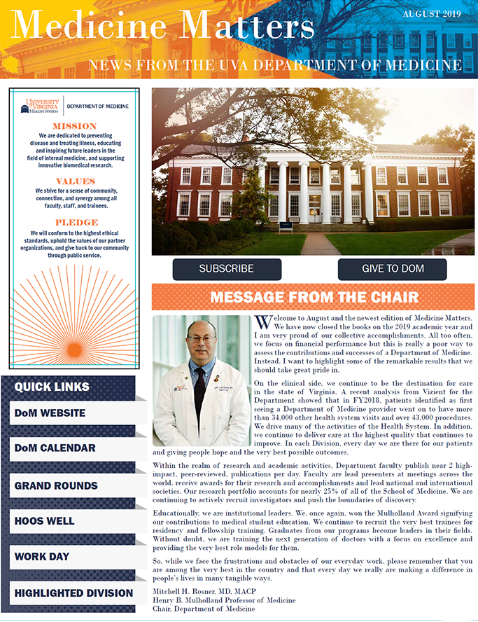 Division of Rheumatology | University of Virginia School of