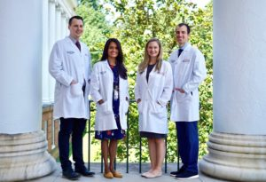 New chief residents: Alex Jepsen, Sthuthi David, Rebecca Haug, and Alex Zimmet