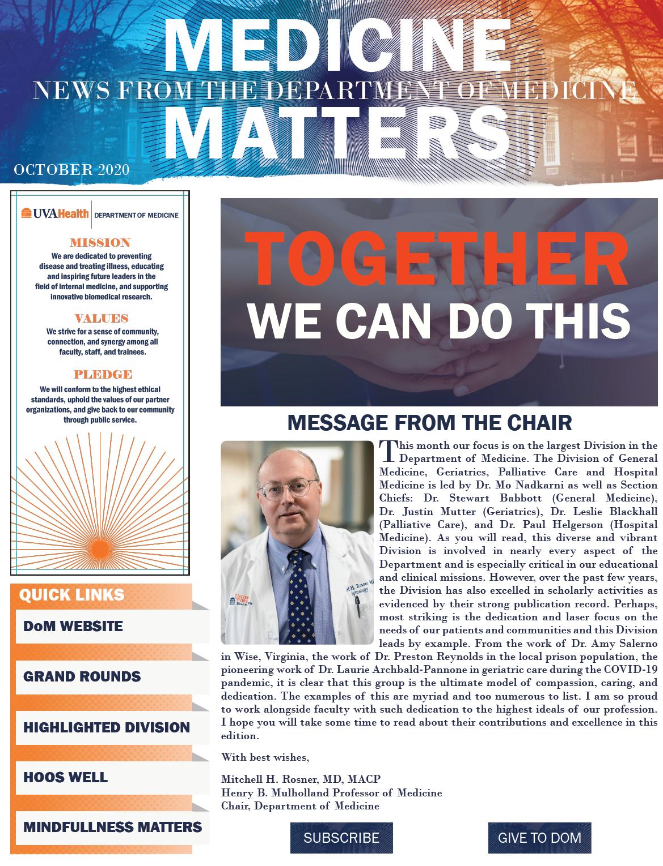 UVA Medicine Matters October 2020