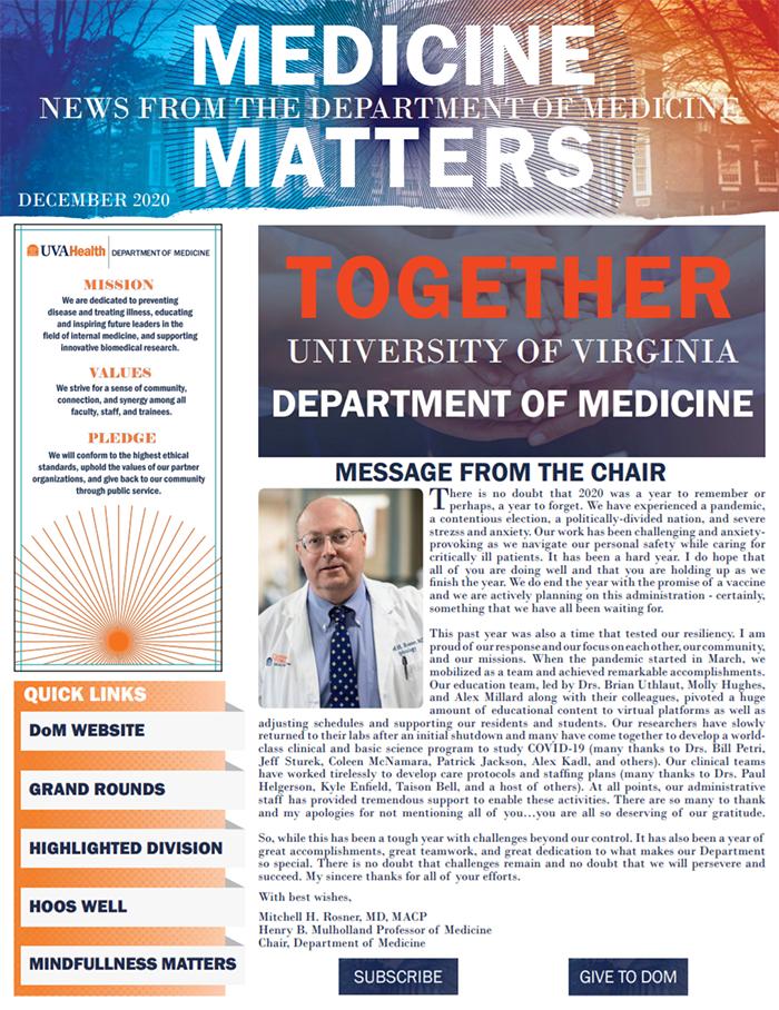 UVA Medicine Matters 2020