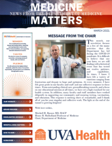 March Department of Medicine Matters Newsletter