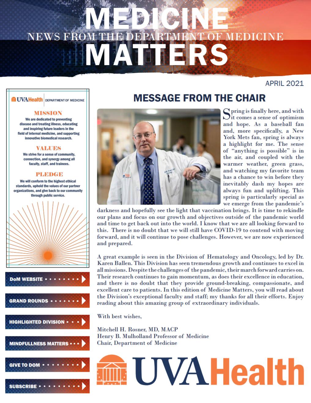 April 2021 Medicine Matters