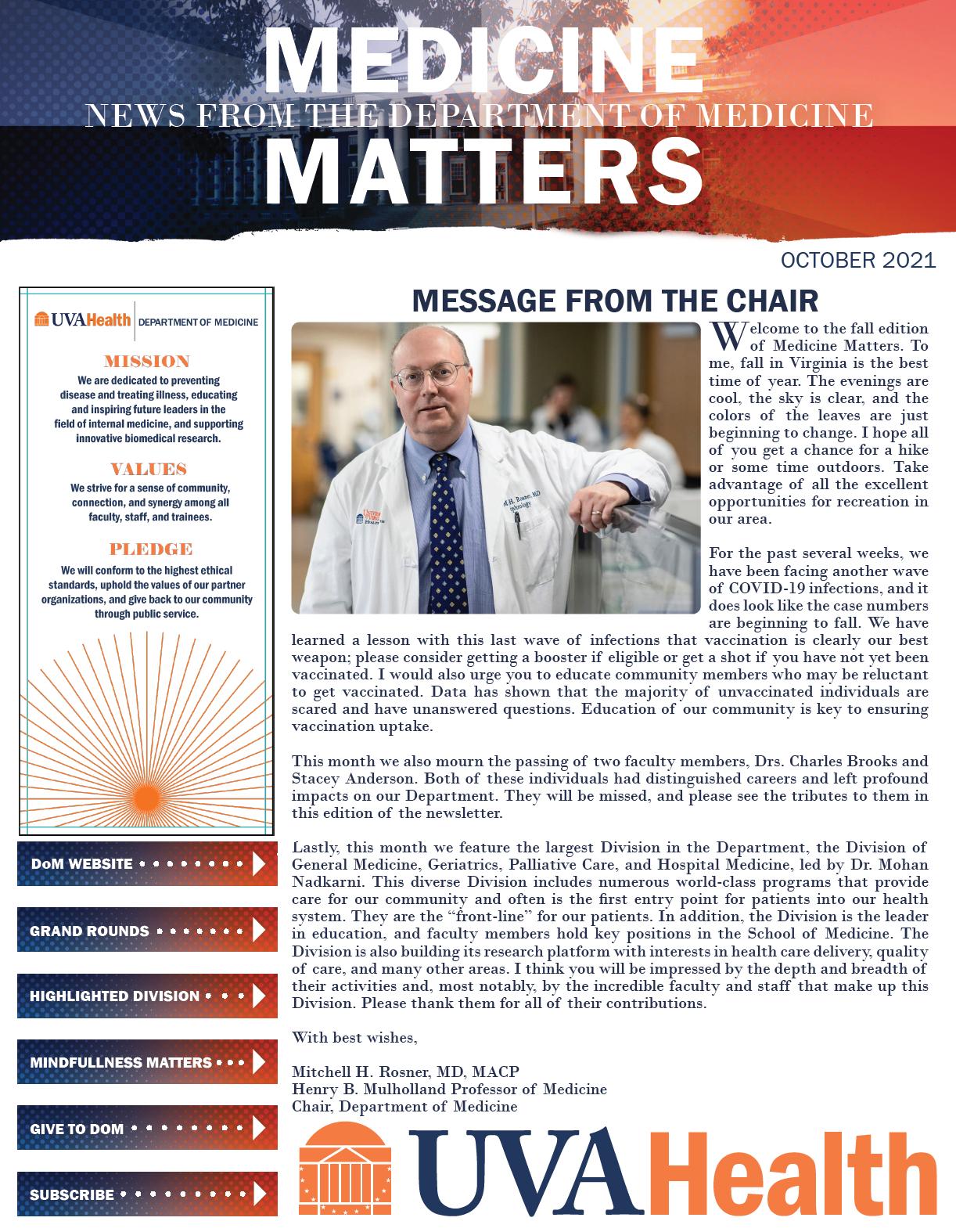 October 21 Medicine Matters