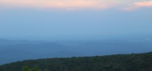 Blue Ridge Mountains, near sunset.