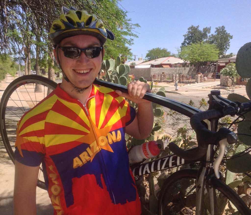 We wish Carl good luck on his epic bike trip