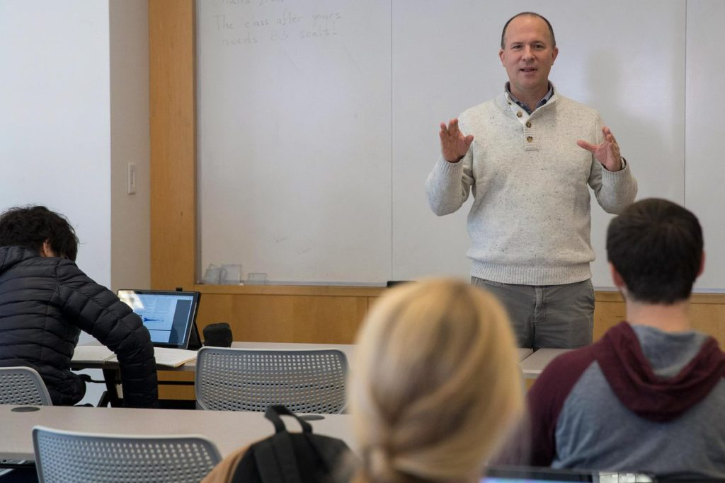 Papin emphasizes data science in every class he teaches, whether he is working with undergraduate, master's or Ph.D. students. (Photo by Dan Addison, University Communications)