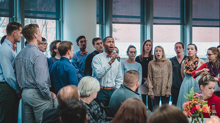 Photo: UVA Medical Students singing