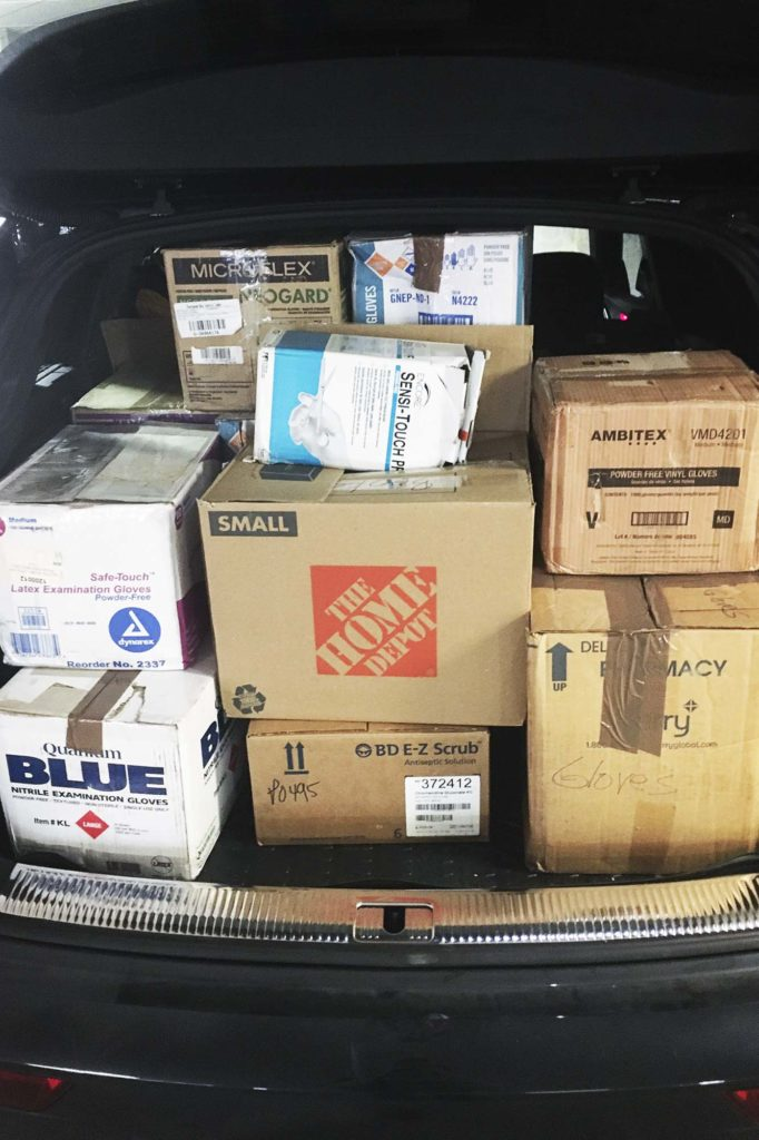 The Charlottesville chapter of the student-run Medical Supply Drive makes sure health care providers have the tools to fight COVID-19. (Contributed photo)