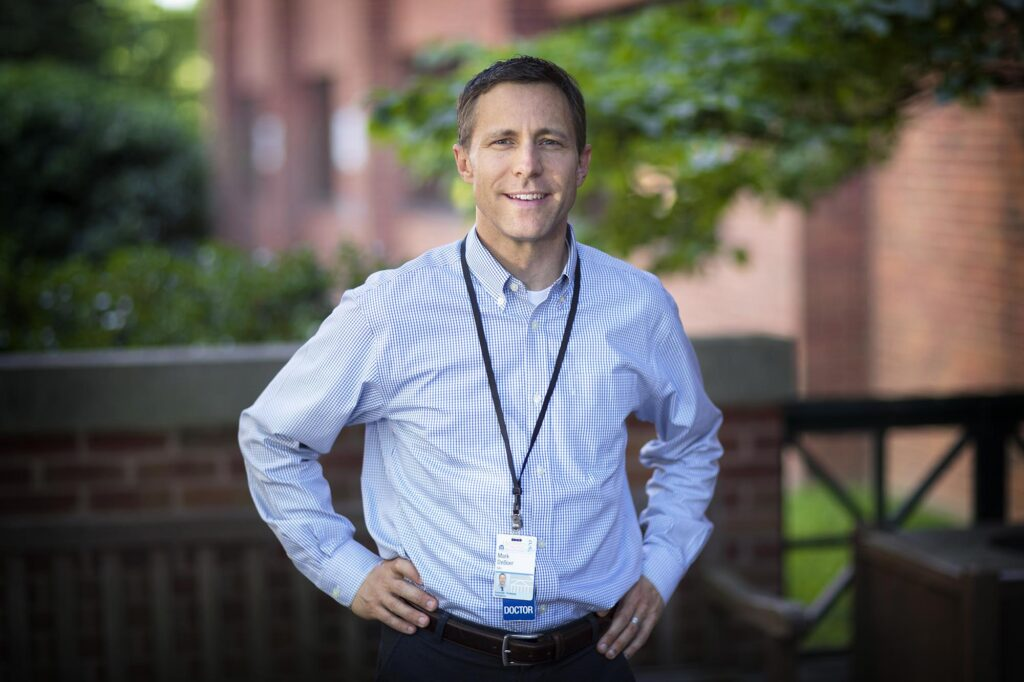 UVA pediatrician Dr. Mark DeBoer developed a a scoring tool to assess the severity of metabolic syndrome, which can be used to predict a person's risk of ischemic strokes. (Photo by Dan Addison, University Communications)