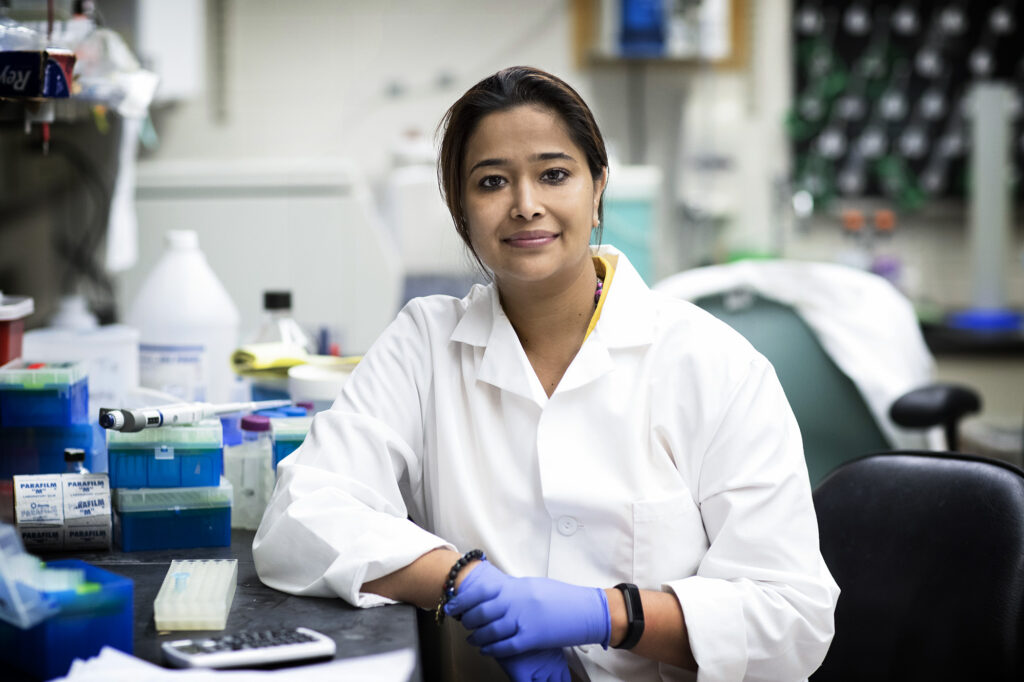 UVA researcher Sanchita Bhatnagar in her lab.